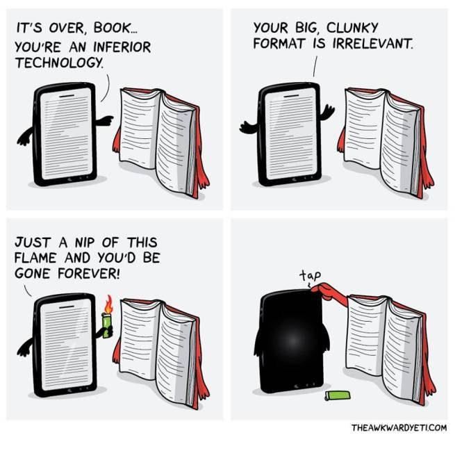 مناظره کتاب کاغذی و الکترونیکی